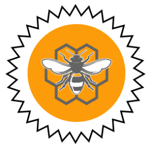 bee in comb icon