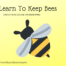 Learn to Keep Bees bee on yellow background